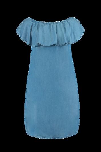 Vestido palabra de honor de tencel