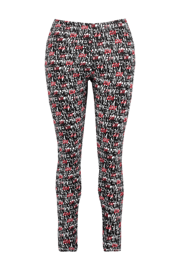Leggings con estampado integral y cremalleras