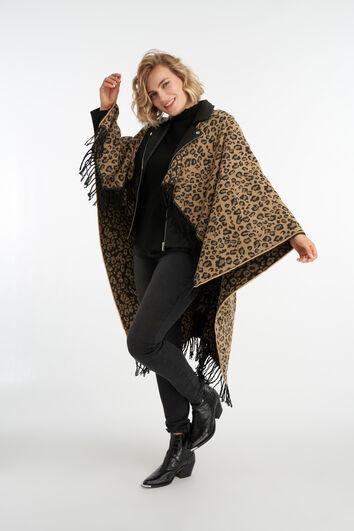 Capa con estampado de leopardo
