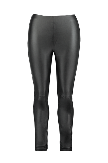 Leggings con cuero sintético en la parte delantera