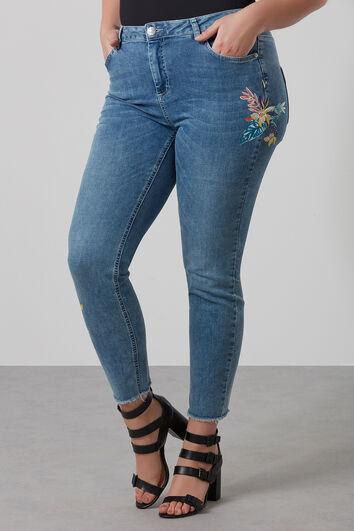 Pantalones ajustados con bordados