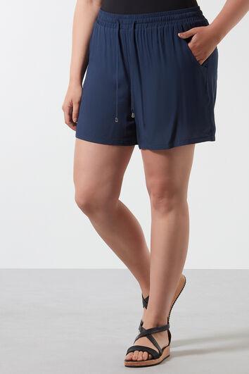 Pantalones liso cortos de viscosa