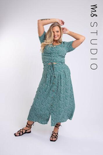 Falda midi con estampado