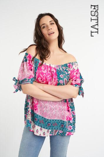 Blusa de verano colorida