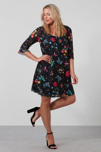 Vestido de encaje con estampado floral