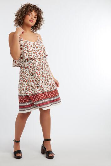 Vestido sin mangas de estampado floral