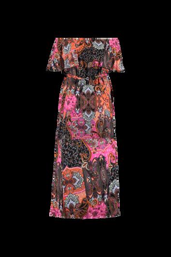 Vestido maxi de colorido