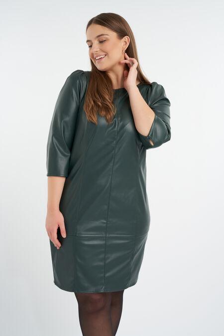 Vestido de cuero sintético