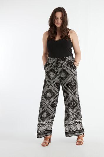 Pantalones anchos estampados