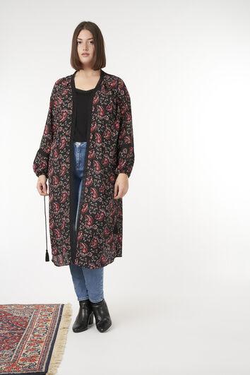 Kimono con estampado paisley