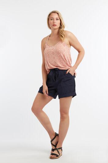 Shorts de mezcla de lino