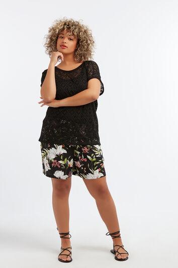Shorts de viscosa estampados