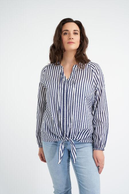 Blusa de algodón anudada
