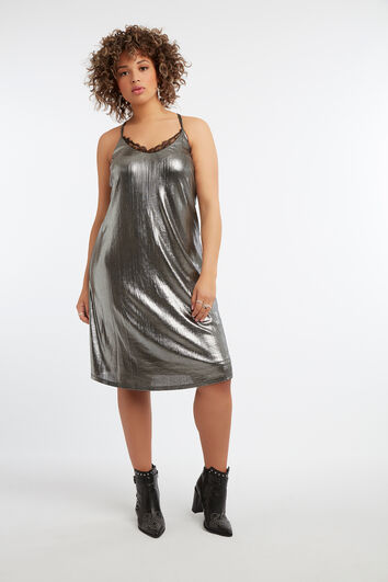 Vestido metálico sin mangas