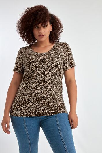 Camiseta con estampado y manga corta