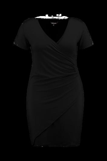 Vestido cruzado con pliegues