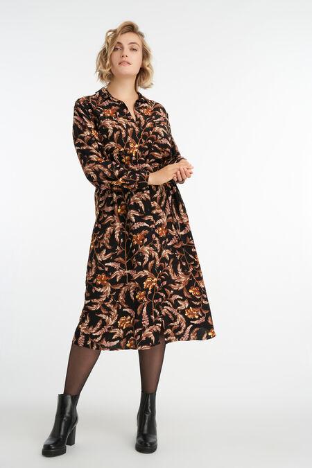 Vestido midi con estampado