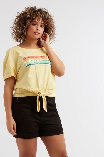 Camiseta con estampado de arcoíris