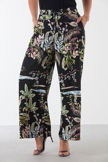 Pantalones holgados de flores
