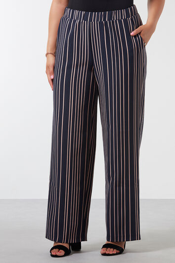 Pantalones anchos de rayas