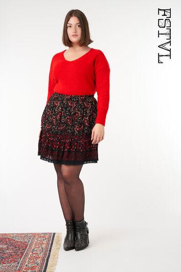 Falda con estampado