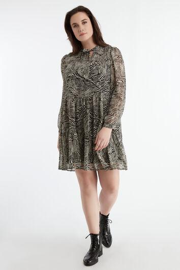 Vestido corto con estampado de cebra