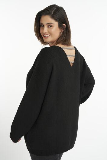 Suéter con detalle de purpurina