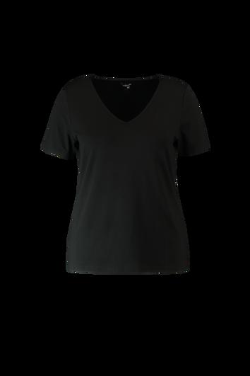 Camiseta de manga corta con cuello de pico