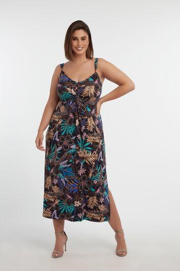 Vestido con estampado de flores