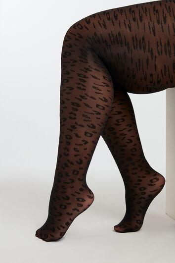 Medias con estampado de leopardo