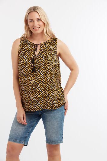 Blusa sin mangas con animal print