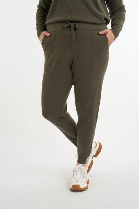 Pantalones cómodos de punto fino