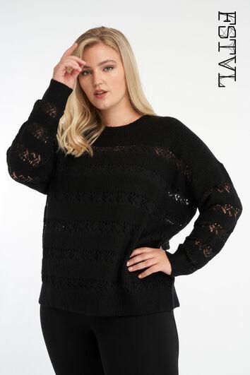 Suéter con mangas caladas