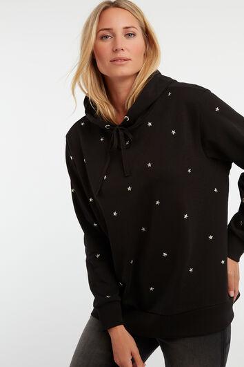 Suéter de estrellas con capucha
