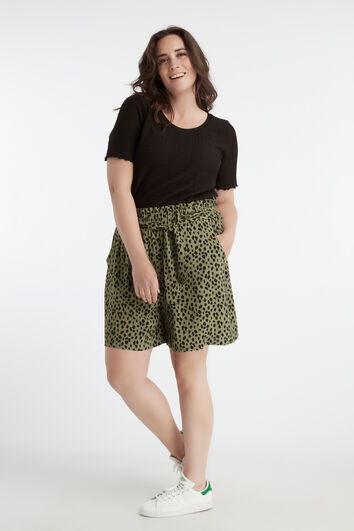 Shorts de viscosa con estampado