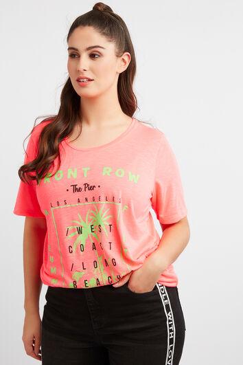 Camiseta con estampado de neón