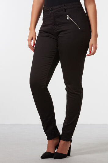 Pantalones de sarga con cremalleras
