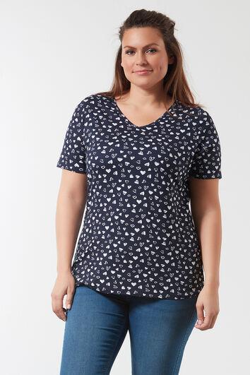 Camiseta de cuello de pico con estampado integral