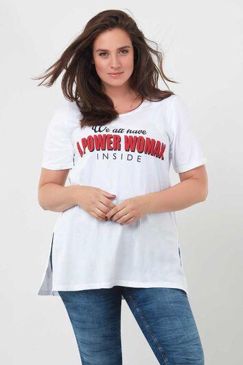 Camiseta larga con estampado
