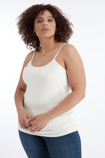 Camisola de algodón con tirantes finos