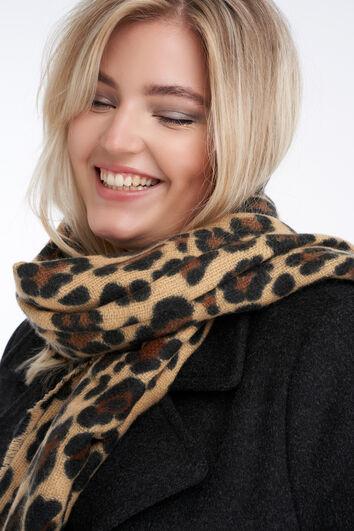 Bufanda con estampado de leopardo