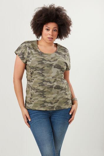 Camiseta con estampado de camuflaje