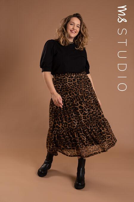 Falda larga con estampado