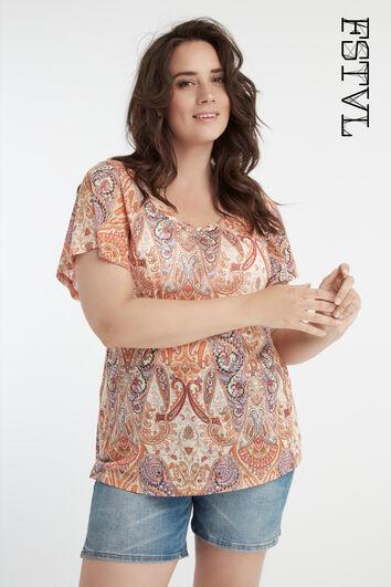 Blusa con estampado de cachemira