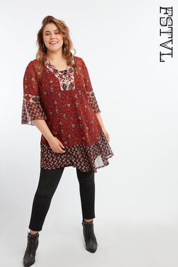 Vestido tipo túnica de estampado floral