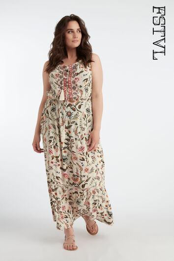 Vestido largo y estampado de estilo bohemio