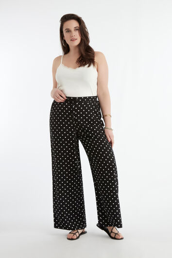 Pantalones anchos de lunares