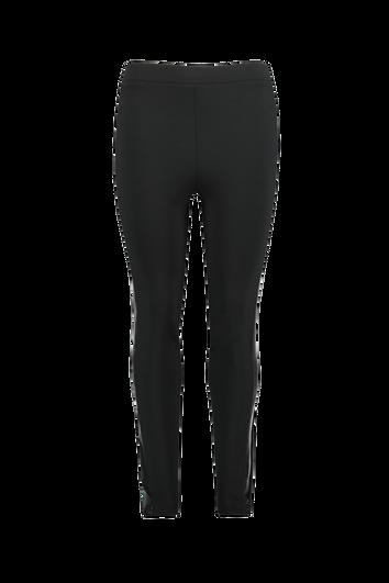 Leggings con raya deportiva de cuero sintético