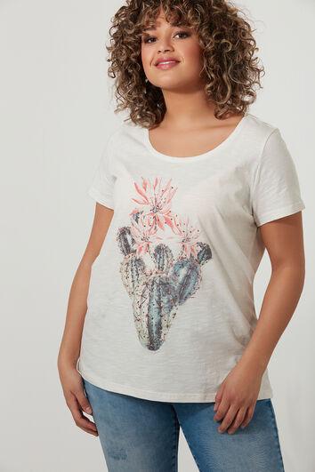 Camiseta con brillantes
