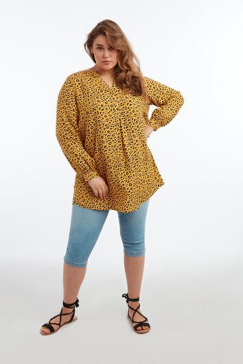 Blusa tipo túnica con animal print